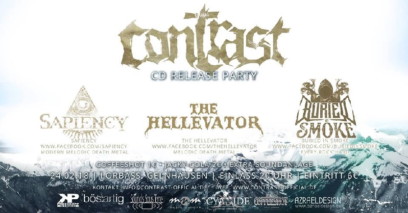 contrast cd release live the hellevator sapiency buried in smoke