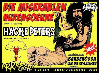 frank zappa hurensoehne hackepters live gelnhausen one night day