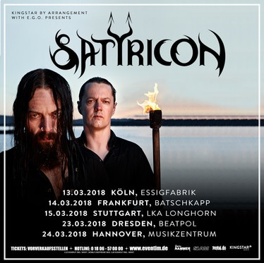satyricon suididal angels tour germany frankfurt 2018 live