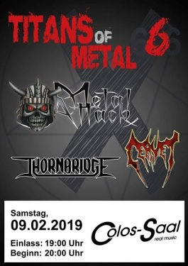 titans of metal cervet metal attack thornbridge colossaal aschaffenburg