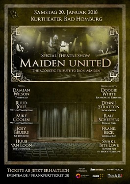 Maiden united live 2018 bad homburg germany theater show
