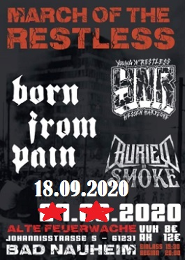 born from pain buried in smoke ynr live tour bad nauheim 2020
