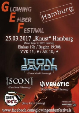 glowing ember soon iron savior live hamburg konzert tour